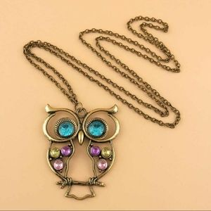 Hot Fashion Jewelry Vintage Colors Hollow Cute Owl